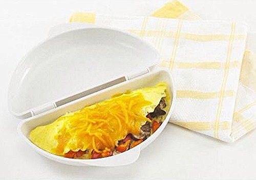 Portable Useful Two Eggs Microwave Omelet Cooker Pan Microweavable Cooker Omelette Eggs Steamer Home Kitchen (Db Egg Cooker compare prices)