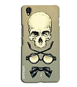 Omnam Skelton With Shades And Bow Printed Designer Back Cover Case For One Plus X