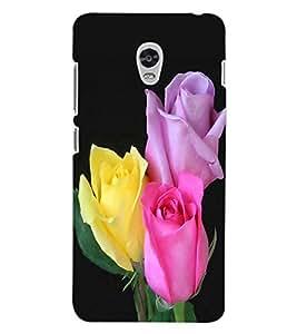 ColourCraft Rose Flowers Design Back Case Cover for LENOVO VIBE P1