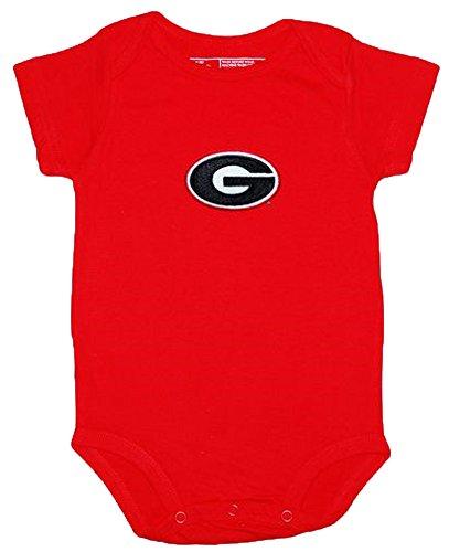 Georgia Bulldogs Red NCAA College Newborn Baby Creeper (0-3) (Georgia Bulldogs Clothes compare prices)