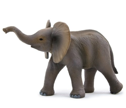 Mojo Fun 387002 African Elephant Calf - Realistic International Wildlife Toy Replica