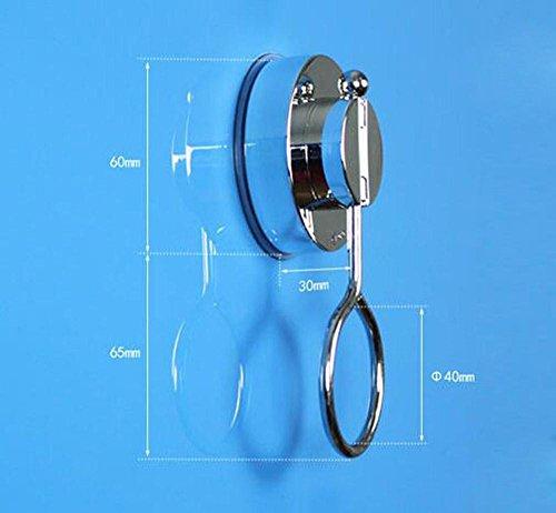 BBSLT Bastone per tenda doccia per appendere anelli, appendiabiti circolare, tende cupule potente anello di aspirazione , silver