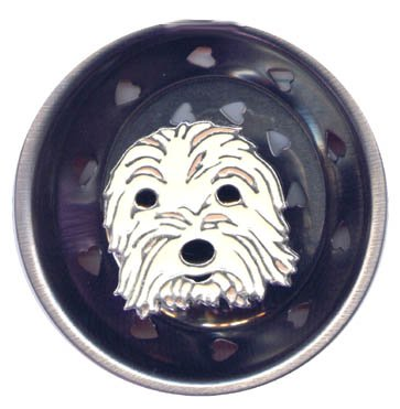 Enamel Kitchen Strainer Rascal the Dog