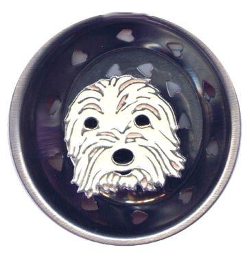 Enamel Kitchen Strainer Rascal the Dog