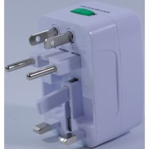 Travel Adapter [2 Pieces] *** Product Description: A Travel Adapter. Compact Unit With 4 International Adapters. Rated Voltage: 0-250V. Surge Protector. Great For Using Electrical Outlets In Europe, Uk, Usa, China, Japan, Australia, Spain, Etc. F ***