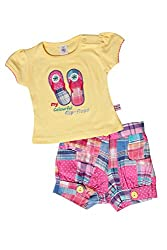 TOFFY HOUSE Yellow Girls Set for Kids