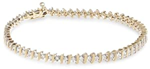 14k Gold S-Link Diamond Tennis Bracelet (1 cttw, H-I Color, I1-I2 Clarity) from Amazon Curated Collection