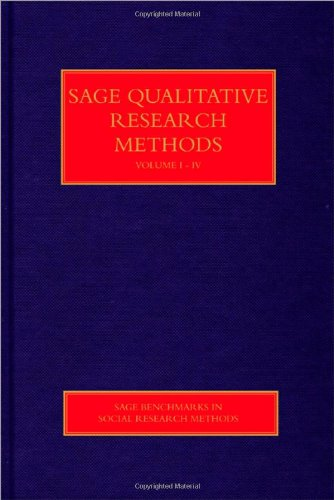 SAGE Qualitative Research Methods (SAGE Benchmarks in Social Research Methods)