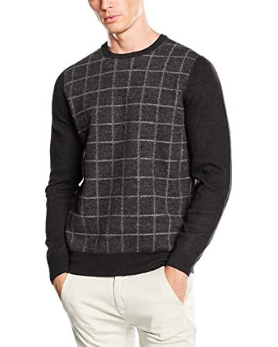 Ben Sherman Jersey The Felted Window Pane Crew Antracita