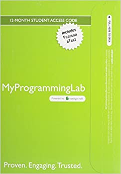 MyProgrammingLab with Pearson eText--Access Code Card--for