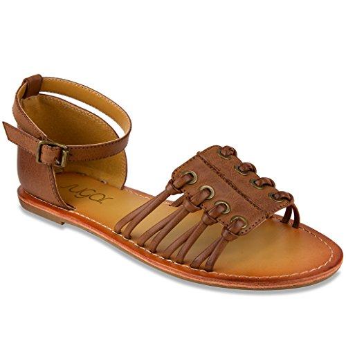 Sugar Women's Primrose Sandal 8.5 Dark Tan (Flip Flops Men Old Navy compare prices)