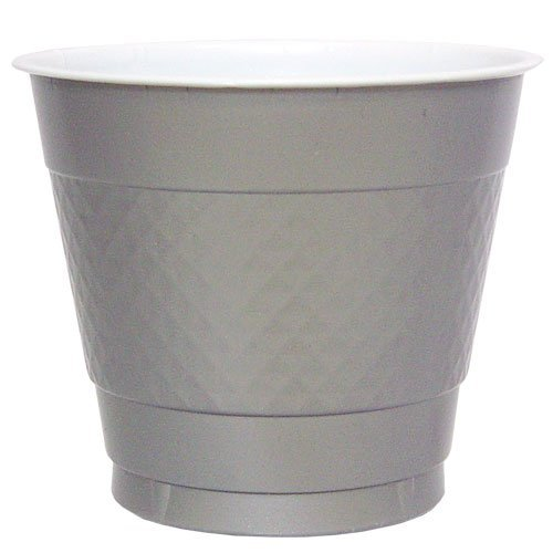 Hanna K. Signature Collection 50 Count Plastic Cup, 9-Ounce, Silver