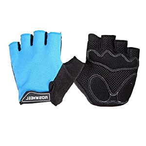 New Cycling Bike Bicycle Glove Half Finger Gloves Blue Glove