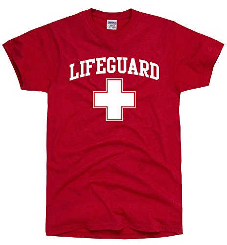 DirtyRagz Red Lifeguard Cross T-shirt - S to XXL