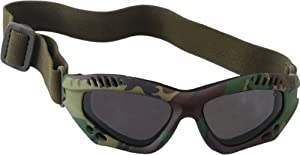 Lunettes goggles d'intervention US Army commando forces spéciales - Monture Woodland Camouflage - Verres fumés - Airsoft - Paintball - Moto - Quad - Ski - Snow - Outdoor