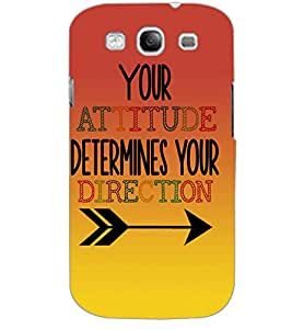 SAMSUNG GALAXY S3 ATTITUDE Back Cover by PRINTSWAG