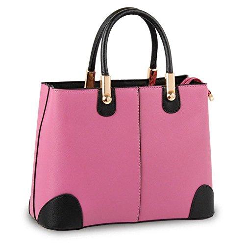 koson-man-femme-vintage-sacs-bandouliere-sac-a-poignee-superieure-sac-a-main-rose-rose-kmukhb349