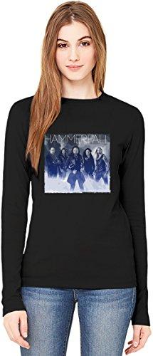 HammerFall Band T-Shirt da Donna a Maniche Lunghe Long-Sleeve T-shirt For Women| 100% Premium Cotton Ultimate Comfort X-Large