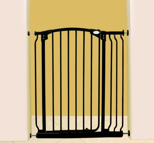 Dreambaby Extra-Tall Swing Close Security Gate (Includes Value Pack), Black