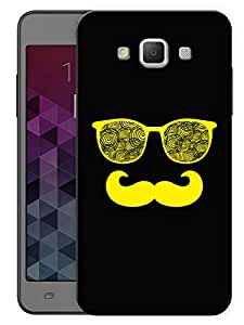 """Humor Gang Moustache Man In Yellow Printed Designer Mobile Back Cover For """"Samsung Galaxy A5"""" (3D, Matte, Premium Quality Snap On Case)"""