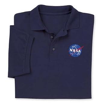 NASA Logo Polo Adult Nvy M