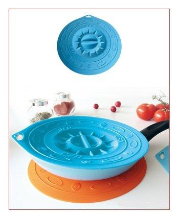 Housse de Protection SET Ufo - partie 5, bleu transparent, comprend les tailles 10,5 / 15,5 / 21,5 / 25,5 et 29,5 cm, -60 ° C à + 230 ° C.