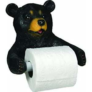 River's Edge Unique Poly Resin Design Cute Bear Toilet Paper Holder. Precio: $13.71