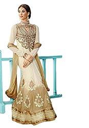 Nirali Womens Georgette Dress Material (Kimora 910 Karuvaki -off-White -Free Size)