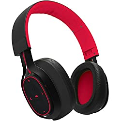 BlueANT PUMP-ZONE-RD Over-Ear Wireless Bluetooth Headphones (Red)