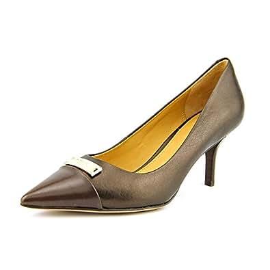 Amazon.com: Coach Zan Mat Womens Size 6.5 Brown Leather Pumps Heels