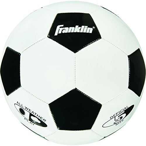 Franklin Sports High Quality Competition 100 Soccer Ball Size 5 Soft Durable