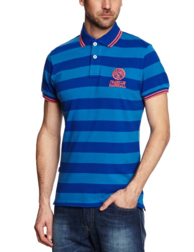 Franklin & Marshall POMR725S13 Polo Shirt Men's T-Shirt Bluette Small