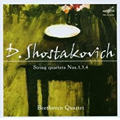 ベートーヴェンSQ演奏 ショスタコーヴィチ:弦楽四重奏曲1,3,4の商品写真