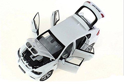 Tourwin Toy car 1:18 BMW X6 M Super SUV simulation white static car model collection decoration alloy children's toys 6 doors can open