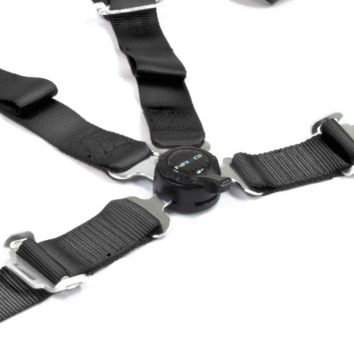 Nrg Sbh-4Pcbk 4-Point Cam Lock Style Nylon Racing Seat Belt Harness - Black