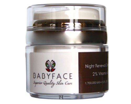 Babyface Night Renewal 2% Retinol Cream 1,700,000 IU/g - Retinoid Retin A Alternative for Skin Tone Correction, Resurfacing, Anti-Aging, Acne