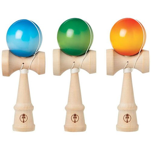 Toysmith Kendama Fade-Out Toy, colors may vary