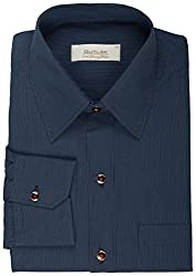 Koutons Men's Formal Shirt (HD-121--38, Blue, 38)