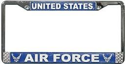 US Air Force License Plate Frame (Chrome Metal)