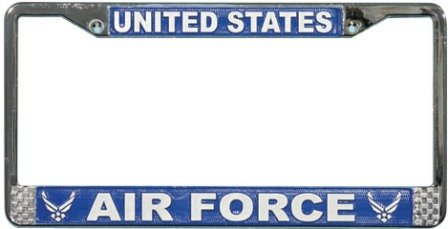 US Air Force License Plate Frame (Chrome Metal) (License Plate Frames Military compare prices)