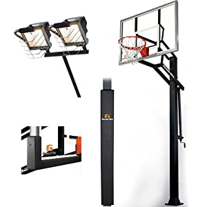 Goalrilla GLR GSIII 54 Basketball System with Deluxe Hoop Light, Pole and Backboard... by Goalrilla