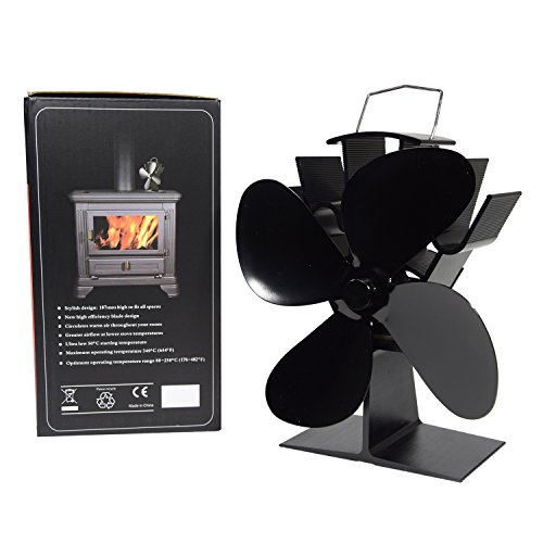 Wood Stove Heat Powered Fan - No Need for Big Noisy Blower Just Relax in Whisper Quiet - Fireplace Blower Fan for Efficient Heat Distribution (Buck Wood Stove Parts compare prices)