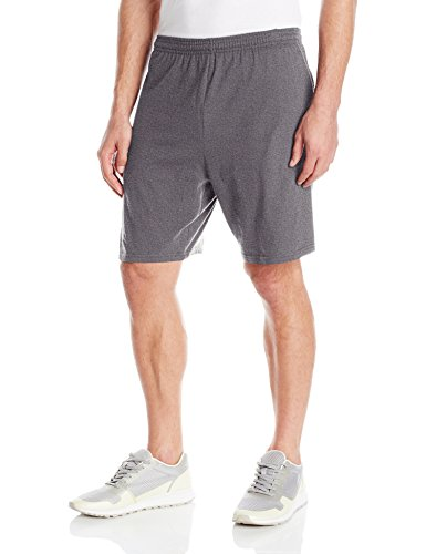 hanes-mens-jersey-short-with-pockets-charcoal-heather-large