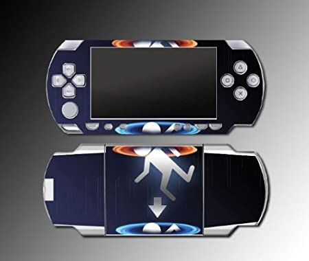 Portal 2 Chell GlaDOS Gun Logo Game Vinyl Decal Skin Protector Cover Kit Sony PSP Playstation Portable 1000