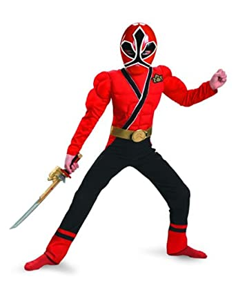 Red Ranger Samurai Muscle Costume - Small