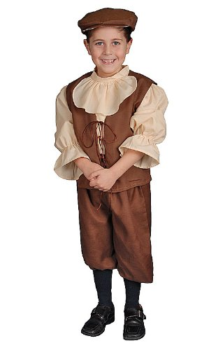 Colonial Boy Child Halloween Costume Size 2T Toddler