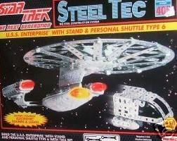 Star Trek Enterprise Steel Tec Construction Steel Model Kit 1994 Version