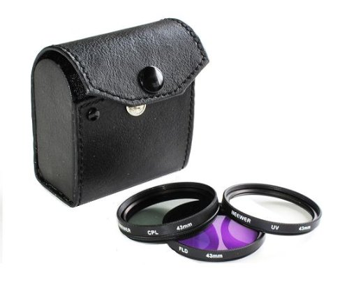 Neewer 43MM 3-PC Filter Kit For Canon Vixia HV40 Camcorder & ANY Other 43mm Lens!
