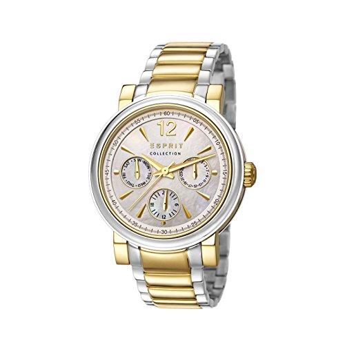Esprit  PENIA - Reloj de cuarzo para mujer, con correa de acero inoxidable, color dorado