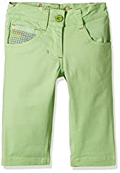 UFO Girls' Shorts (AW16-NDF-GKT-406_Lime Green_8 - 9 years)